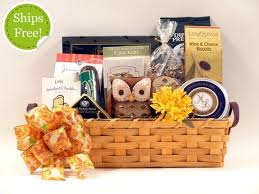 thanksgiving gift basket with handmade amish basket