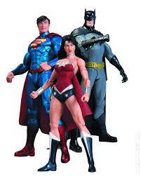 Trinity Halloween Costume Trinity War Superman Woman Batman Action Figure 3