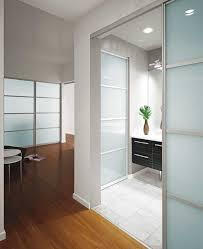 Modern Bathroom Doors Glass Sliding Bathroom Doors With Aluminum Frame Ideas Home
