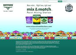 boysen mix and match u2013 web design