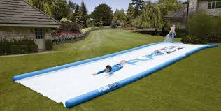 right in your own backyard portable 50 ft slide lets you have a mini water park right in your