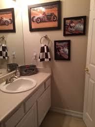 teen boy bathroom vintage race car theme checkered flag towel
