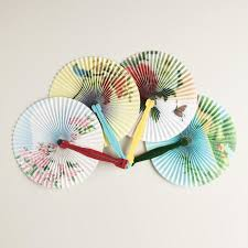 folding fans solid colors folding fans set of 4 world market