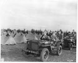 army jeep ww2 president franklin d roosevelt inspects troops from a jeep willys