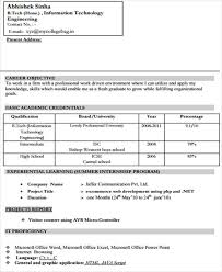 Example Of Resume For Fresh Graduate Information Technology by 40 Simple It Resume Templates Free U0026 Premium Templates