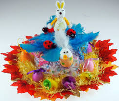 Easter Hat Decorations Uk by Girls Or Boys Ready Made Decorated Easter Bonnet Hat Blue