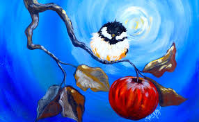 watercolor tutorial chickadee happy chickadee and apple branch beginner step by step acrylic