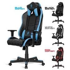 fauteuil bureau inclinable chaise bureau gamer en noir et blanc chaise bureaus