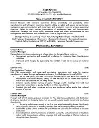 General Manager Resume Sample by General Operations Manager Resume Template Premium Resume