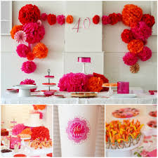 Bday Decorations At Home 40th Birthday Party Idea 40th Birthday Parties 40 Birthday And