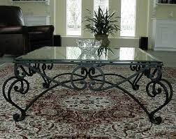 Wrought Iron Accent Table Wrought Iron Coffee Table With Glass Top Drawer Wood Storage