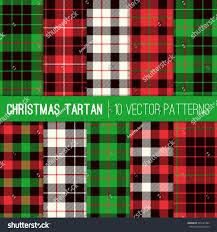 christmas tartan plaid patterns red green stock vector 323145395