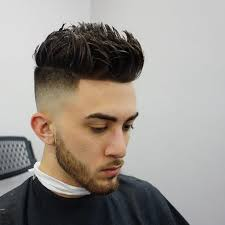 fade haircut with gel hairs picture gallery