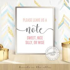 wedding wishes note leave us a note guestbook sign best wishes sign