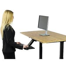 Ergonomic Sit Stand Desk Office Supplies Technology Ink Much More Staples