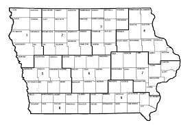 Map Of Iowa Counties About Cdi Conservation Districts Of Iowa
