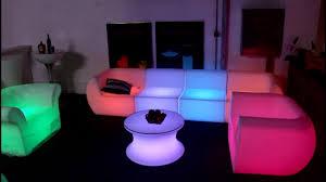 modern plastic lighting sofa general use plastic furniture led