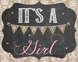 shabby chic pregnancy gender reveal chalkboard signs download