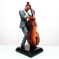 american jazz big bass player resin figures high quality