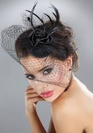 funeral veil mini top hat black fascinator with side veil wn2966b 6 99