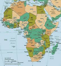 africa map gambia map of africa