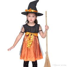 Witch Halloween Costumes Kids Witch Halloween Party Fancy Dress Girls Xmas Party Christmas