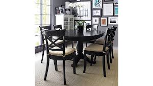 Dining Room Stylish Avalon  Black Round Extension Table Crate - Brilliant crate and barrel bedroom furniture home