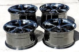corvette c6 wheels for sale now in stock oem gm custom black chrome grand sport wheels
