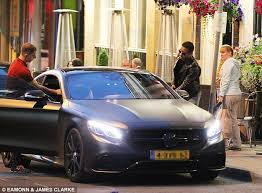 mercedes in manchester manchester united boy depay parks his mercedes in