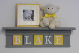 Yellow Gray Nursery Decor Yellow And Gray Nursery Wall Yellow Baby Boy Nursery Decor