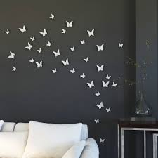Butterfly 3d Wall Art by Online Shop Ysk Shop Mariposa In Gossip 3d White Butterfly