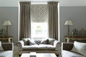 Hillarys Blinds Chesterfield Harlow Charcoal Curtains And Aurella Ash Roman Blind Living Room