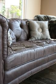 chesterfield sofa in fabric the painted sofa reloved rubbish paint finishes soft leather