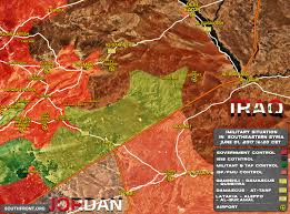 Map Of Turkey And Syria by Situation At Syrian Border With Jordan And Iraq On June 1 2017