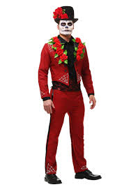 men u0027s plus size day of the dead costume halloweenie pinterest