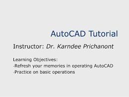 autocad tutorial ppt autocad tutorial powerpoint presentation id 3417825