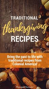 bring the past to with traditional thanksgiving dinner