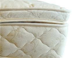 natural latex mattress topper quilted with organic cotton and wool