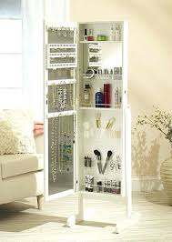 Makeup Vanity Jewelry Armoire Huge Jewelry Armoire Over Door And Standing Full Mirror Makeup