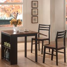 Coaster Dining Room Sets Coaster 3 Piece Breakfast Dining Set With Storage Chestnut Black