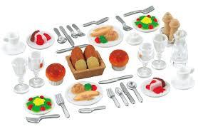 sylvanian families cuisine dinner for two set sylvanian families