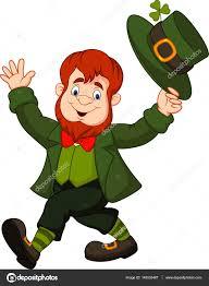 cartoon funny leprechaun tipping his hat u2014 stock vector tigatelu