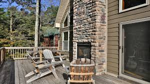 wrap around deck deer view lodge in the pocono mountains
