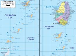 A Map Of The Caribbean Detailed Clear Large Map Of Saint Vincent And The Grenadines