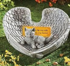 cat memorial cat memorial pet garden statue solar angel wings light