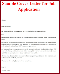 cover letter example of cover letter for job application example