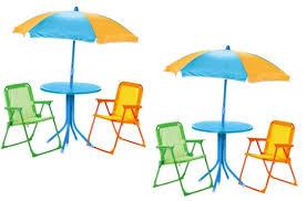 Folding Garden Chairs Argos Chad Valley Children U0027s Table Chairs U0026 Parasol Set 19 99 Argos