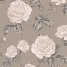 graham u0026 brown countess taupe floral wallpaper departments diy