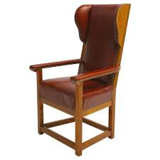 biedermeier austrian cherrywood wingback chair circa 1830