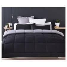 reversible comforter set double bed black kmart
